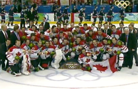 Canada wins Ice Hockey Gold at Vancouver 2010 Winter Olympics