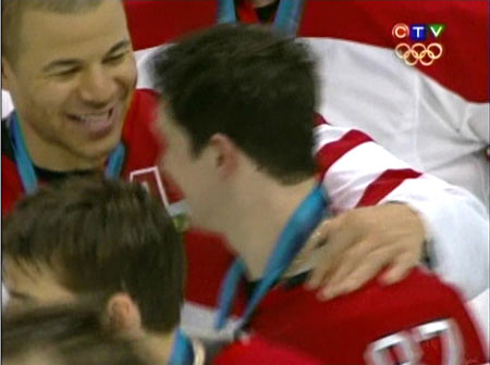 Jerome Iginla and Sidney Crosby