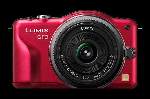 Panasonic Lumix DMC-GF3 with 14mm pancake lens