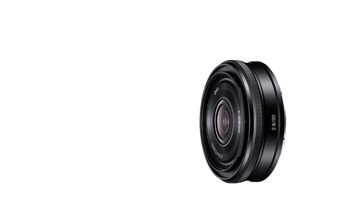 Sony 20mm F2.8 'pancake' wide angle lens (model SEL20F28)