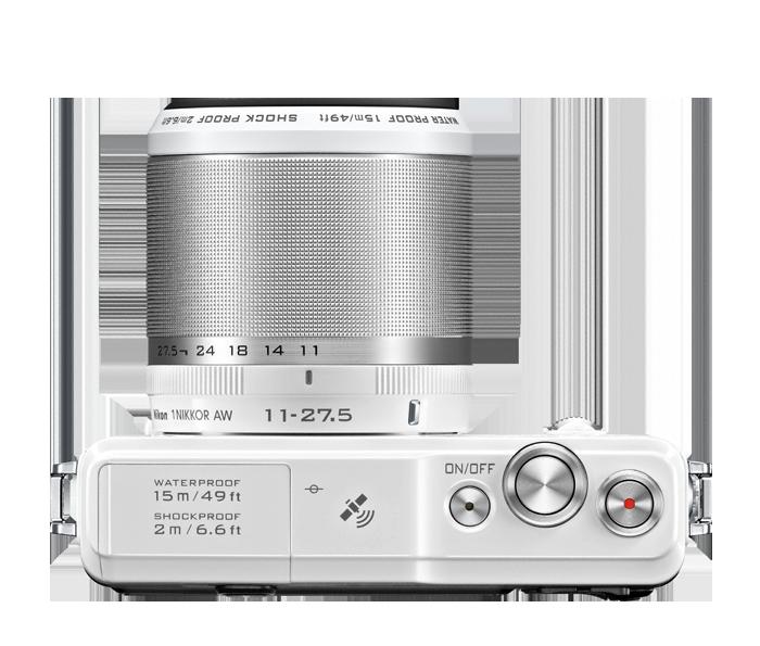 Nikon 1 AW1: Top view.