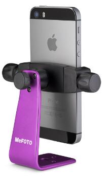 MePHOTO Sidekick360 (Purple; Front) + iPhone