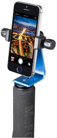 MePHOTO Sidekick360 (Blue) + iPhone + Monopod