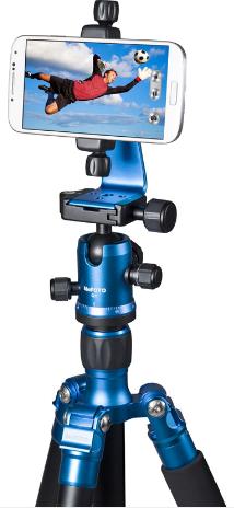 MePHOTO Sidekick360 (Blue) + Samsung smartphone + Tripod