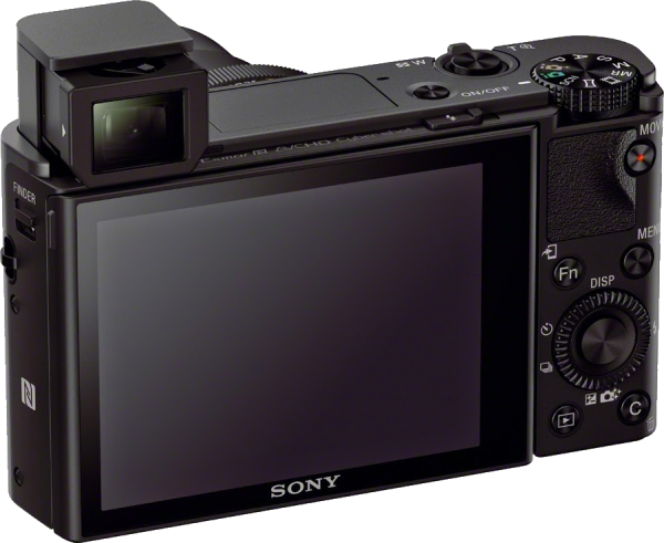 Sony RX100 III Camera with retractable OLED Tru-Finder™ electronic viewfinder (EVF)