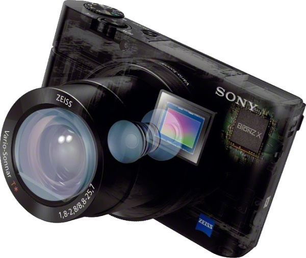 Sony RX100 III Camera with 20.1 MP 1.0-type back-illuminated CMOS image sensor and the BIONZ X processor
