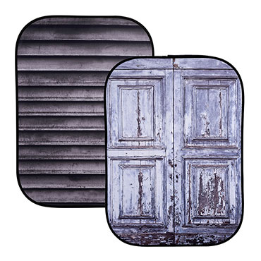Lastolite's new textures to the Urban Backgrounds: Shutter / Wooden Door