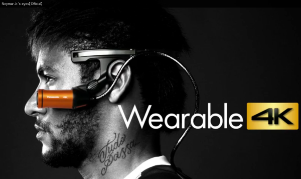 panasonic a500 wearable 4k soccer star neymar jr
