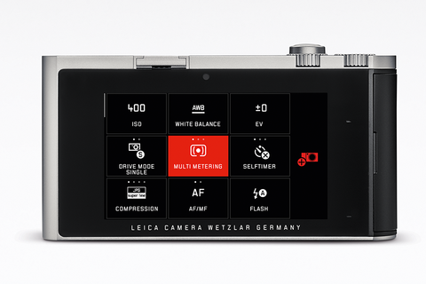 "Leica T: 3.7"" touchscreen with maximum detail resolution. Simply touch the screen to focus and compose your picture, and check and review your pictures with a swipe. Set up the menu of your Leica T to meet your personal needs. Then just call up your favourites in the MyCamera menu."