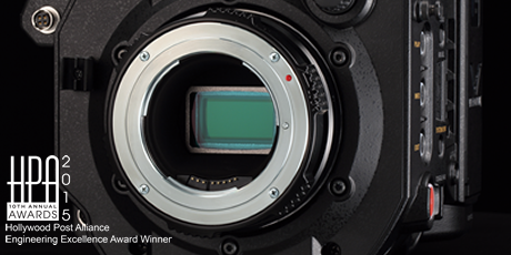 Panasonic VariCam LT: Super 35 mm Imager and EF Lens Mount (Panasonic does not guarantee the compatibility or performance of all EF lenses). Image Courtesy of Panasonic