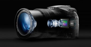 The Sony Cyber-shot DSC-RX10 III features a Zeiss Vario-Sonnar T* 24-600mm equivalent f/2.4-4 zoom with image stabilizer.