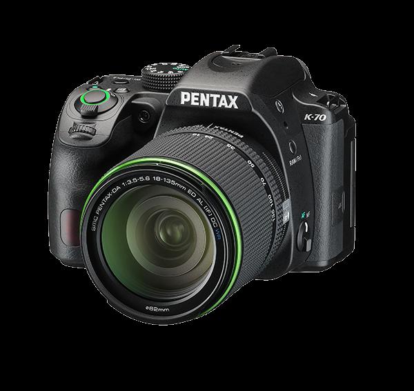 Pentax K-70 (Black) with SMC PENTAX-DA 18-135mm F3.5-5.6 ED AL IF DC WR lens