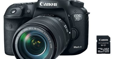 Canon EOS 7D Mark II with Wi-Fi Adapter W-E1