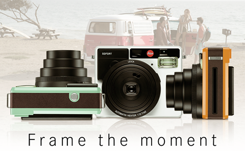 Leica SOFORT in three colors (left to right) - mint, white and orange