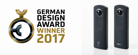 "RICOH THETA S 360-Degree Camera Won the Prestigious German Design Award 2017: ""Winner"" in the Category 'Excellent Product Design'"