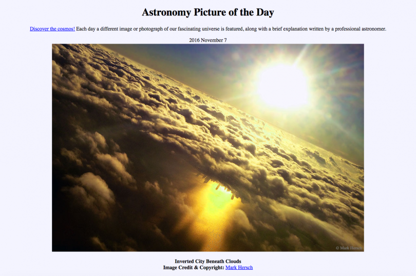 Mark Hersch, Astronomy Picture of the Day