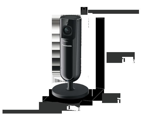 Panasonic KX-HNC805: camera includes a manual sliding privacy shutter (open)