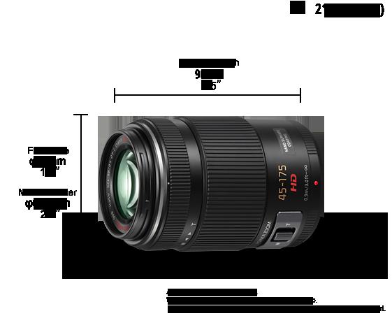 Panasonic LUMIX G X VARIO PZ 45-175mm / F4.0-5.6 ASPH. / POWER O.I.S. Lens: H-PS45175