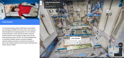 Visit the International Space Station via Google Street View