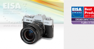 Fujifilm X-T20 Wins EISA Consumer Compact System Camera 2017-2018 Award
