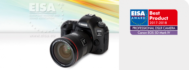 Canon Wins Three Prestigious EISA Awards 2017-2018: Professional DSLR Camera is EOS 5D Mark IV, Consumer DSLR Camera is EOS 77D, Professional DSLR Lens is Canon EF 16-35mm F2.8L III USM