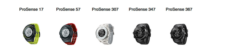Epson ProSense™ is a New Line of GPS Running Watches with RouteSense GPS Technology & Best Battery Life in the Category: Prosense 57, 307, 347, 367 Watches Feature a More Accurate & Reliable Heart-Rate Sensor