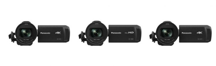 Panasonic 4K Camcorders HC-WXF1 (Professional), HC-VX1, and Full-HD Flagship Camcorder HCV-800: Fast AF, Wide-Angle 25mm and 24x Optical Zoom Lens, and Large BSI MOS Sensor Improves Low-Light Shooting