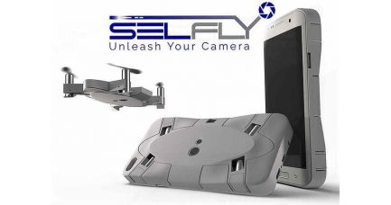 AEE SELFLY Drone-Smartphone-Case: First-Ever Flying Phone Camera Case Conveniently Captures Selfies from Heights and Distances Never Before Possible