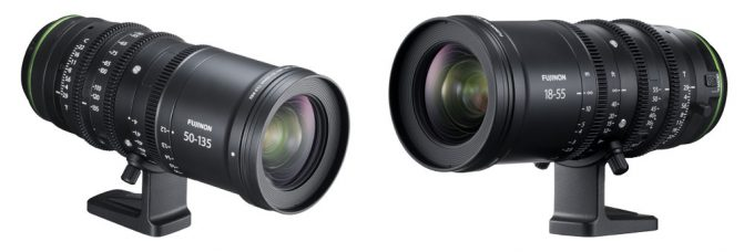 Fujifilm's FUJINON MKX18-55MMT2.9 and FUJINON MKX50-135MMT2.9 are High-Performance, Ultra-Compact & Lightweight Cinema Lenses for X Series Mirrorless Cameras: Achieve T2.9 Aperture Across the Entire Zoom Range; Suppress Focus Shifts & Optical Axis Shifts While Zooming; Eliminate Time Lag; Equipped with a Wide Macro Function