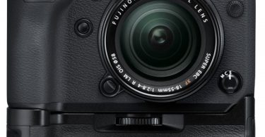 Fujifilm X-H1 with optional Vertical Power Booster Grip VPB-XH1