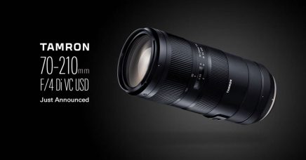 Tamron 70-210mm F/4 Di VC USD is a Lightweight, Compact Telephoto Zoom Lens for Full-Frame DSLR Cameras of Nikon and Canon: High-Speed & High-Accuracy AF, Maximum Magnification Ratio of 1:3.1, Vibration Compensation Image Stabilization, Fluorine Coating, Moisture-Resistant Construction