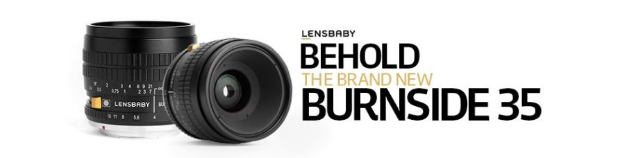 Lensbaby Burnside 35 is a 35mm f/2.8 Lens for DSLR & Mirrorless Cameras: Control In-Camera Vignette, Center Brightness & Subtle, Swirly Bokeh Via an Effect-Enhancing Slider on the Barrel of the Lens