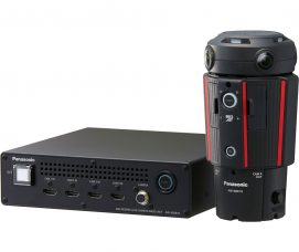 Panasonic's Broadcast-Grade, 360°/VR Live Camera AW-360C10 with Its Base Unit AW-360B10 + Haivision KB Max Internet Media Encoder + LiveScale Omnicast Cloud Platform: Ultimate 360° Live Workflow – Capturing 360° Video in a 4K Equirectangular Format – To Stream Reliable, High-Quality 360° Experiences to Online Audiences