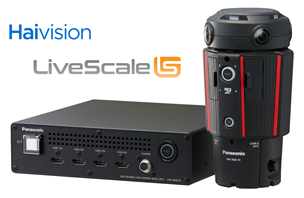 Panasonic 360-degree Live Camera with Haivision's KB 4K encoder and LiveScale's distribution platform