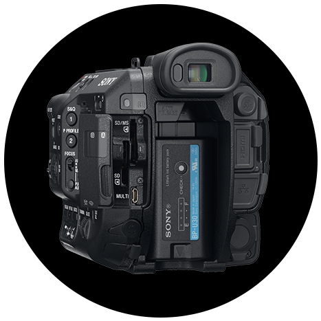 Sony FS5 II: Dual SD card slots with independent record control