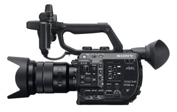 Sony FS5 II is a Super 35 mm Handheld Camcorder: Lightweight, 4K Super 35 CMOS Sensor E-Mount, 4K HDR, 120fps RAW, New Color Science, Instant HDR Workflow with HLG, Color Grading with S-Log2/3, Built-in Electronic Variable ND Filter with Auto ND Function
