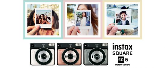 Fujifilm Instax® SQUARE SQ6 is a Sleek & Sophisticated Square Format Instant Film Camera for Instant Square Prints: Retractable Lens, Selfie Mirror, Selfie Mode, Macro Mode, Landscape Mode, Flash Colour Filters, Tripod Socket
