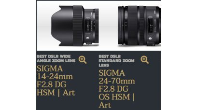 SIGMA Won the Prestigious TIPA World Awards 2018 for 14-24mm F2.8 DG HSM| Art as the 'Best DSLR Wide Angle Zoom Lens' and 24-70mm F2.8 DG OS HSM | Art as the 'Best DSLR Standard Zoom Lens'