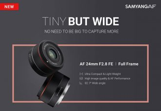 Samyang (Rokinon) AF 24mm f/2.8 FE, a Wide Angle Full-Frame Sony E-Mount Lens, is Used for Low-Light Environments & Close-Up Subjects: Compact & Light-Weight, Fast AF, Minimum Focusing Distance of 0.24m