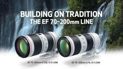 Canon EF 70-200mm f/4L IS II USM Lens for Portrait Shooting – Features Soft Bokeh, I.S. Modes to Help Get Shots of Fast-Moving Subjects, O.I.S. at Up to 5 Stops; EF 70-200mm f/2.8L IS III USM Lens for Professional Photographers – O.I.S. at Up to 3.5 Stops, Fast & Near-Silent AF, Air Sphere Coating Minimizes Ghosting & Flare: Both Lenses' Features Include Dust-/Water-Resistant and AF with Full-Time Manual for Focus Adjustment