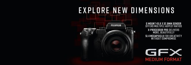 FUJIFILM GFX 50S Medium Format Mirrorless Camera's Firmware Update Ver.3.10 (May 30, 2018): New Functions & Compatibility With the Newly Developed Fujinon GF250mmF4 R LM OIS WR Telephoto Functions