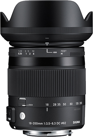 SIGMA 18-200mm F3.5-6.3 DC MACRO OS HSM | Contemporary Lens for Canon