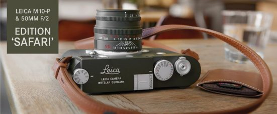 Leica M10-P Edition 'Safari' Camera and Leica Summicron-M 50 mm f/2 Edition 'Safari' Premium Lens are Limited Editions Finished in Olive Green Enamel