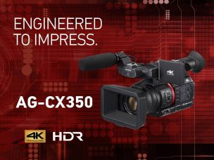 Panasonic AG-CX350 4K Handheld Camcorder: Lightweight & Compact, 4K 10-bit 60p Capture, HDR Recording and Enhanced Network Capabilities