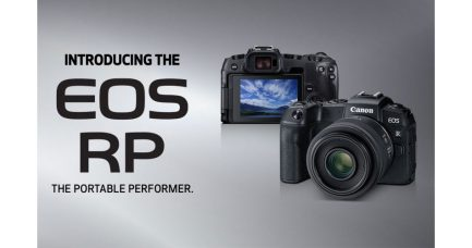 Full-Frame Mirrorless Canon EOS RP Targets Beginners and APS-C DSLR Owners: Ultra-Lightweight, Super-Compact, 26.2 MP Sensor, Dual Pixel CMOS AF, Eye Detection AF, Low-Light Rating of EV -5, 4K UHD Video, OLED EVF, Vari-Angle LCD Touchscreen, Creative Assist Mode
