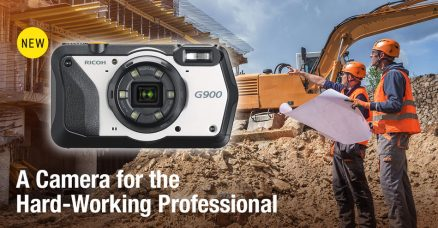 Compact Ricoh G900 Camera is Rated Heavy-Duty Industrial Strength for Construction, Civil Engineering, Disaster Relief & Healthcare: Waterproof, Dustproof, Shock- and Chemical-Resistant, 20MP, 5x Optical Zoom, Six-LED Ring Light, Memo Function, Barcode Scanning, Password Protection, GPS Functions
