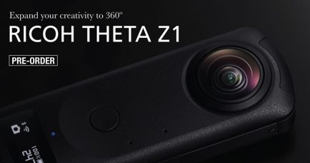RICOH THETA Z1 Camera Shoots 360-degree Spherical Still Images in a Single Shot: 1.0-inch Back-illuminated CMOS Image Sensor, 23MP Resolution, 360-degree Videos in 4K, 30 fps, 3-axis Rotational Stabilization, Support for RAW File Format
