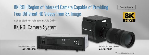 Panasonic Develops 8K ROI Multi-camera System That Includes AK-SHB800 8K Camera: Provides Up to Four Different HD Videos from an 8K Image; Reduces Operating Costs in Live Events & Sports Applications