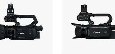 Canon (left to right): XA55/XA50 and XA45/40