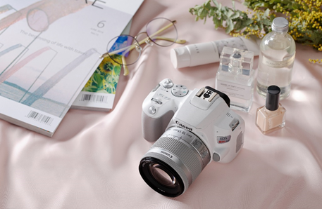 Canon EOS Rebel SL3, White: Image Courtesy of Canon